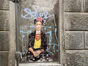 Identität Frida Kahlo Streetart